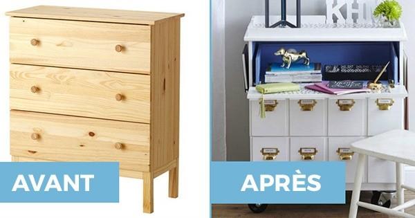 20 astuces pour personnaliser vos meubles ikea. Black Bedroom Furniture Sets. Home Design Ideas