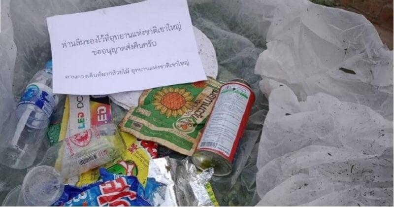 Thaïlande : le parc Khao Yai renvoie les déchets abandonnés par colis à leurs propriétaires