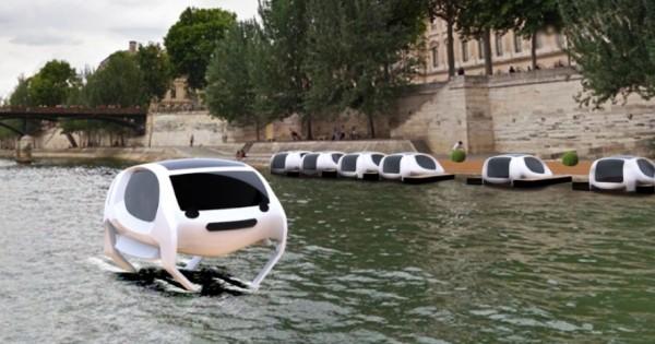 Découvrez les premières photos du premier taxi volant qui sera inauguré à Paris, en mars prochain: une alternative écologique et prometteuse