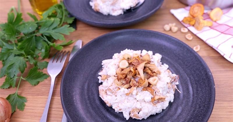 Dégustez un risotto crémeux aux girolles pour combattre le froid de l'automne !
