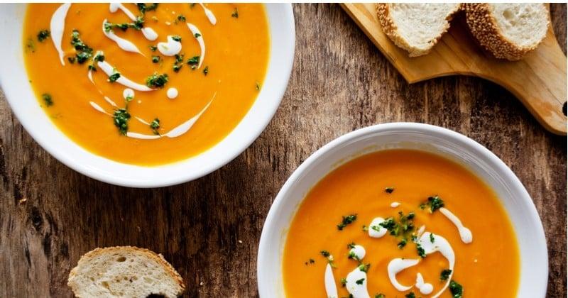 Soupe de patates douces, gingembre, orange et piment, de quoi garder la forme tout l'hiver!