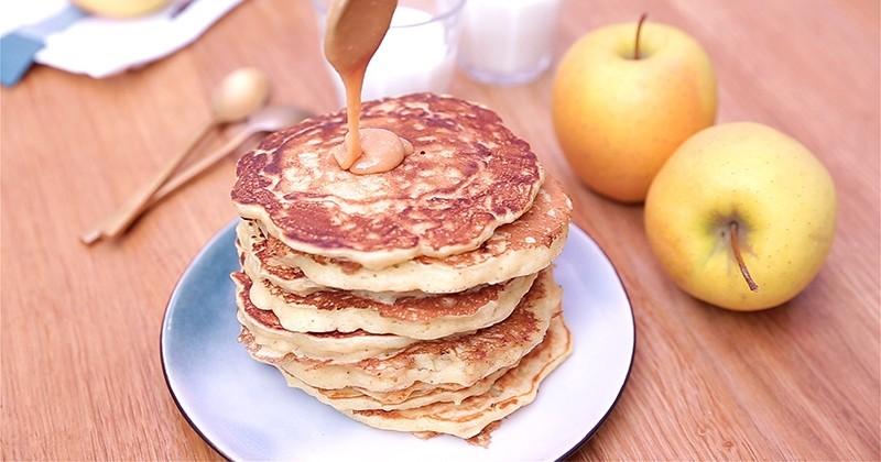 pancake pomme caramel