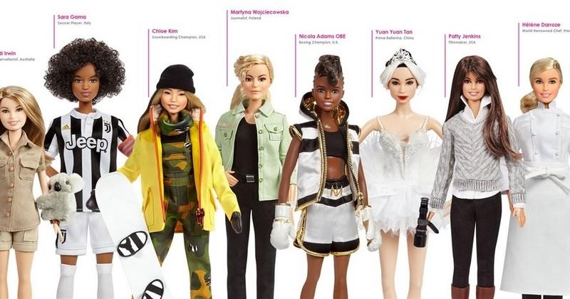 Frida Kahlo, Amelia Earhart et bien d'autres femmes exemplaires déclinées en poupées Barbie