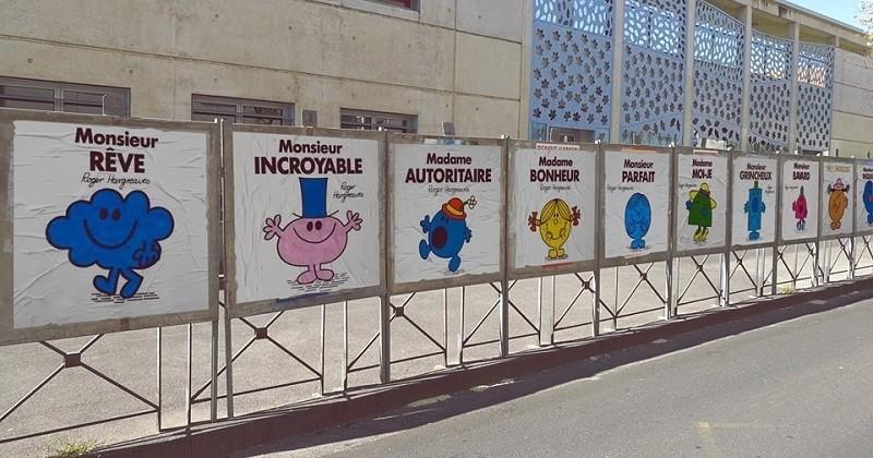 À Montpellier, ce street-artist remplace les affiches des élections présidentielles par des personnages de Monsieur Madame