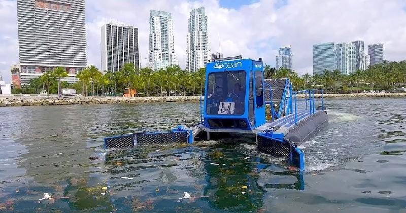Ce bateau a été conçu pour nettoyer la pollution des océans
