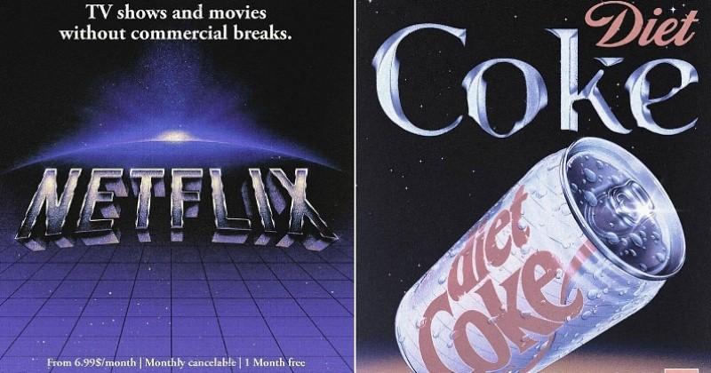 Un graphiste imagine des affiches publicitaires de grandes marques en mode rétro et le résultat est juste génial