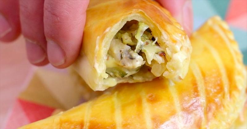 Craquez pour les empanadas courgettes, poulet et MayoDuo & Moutarde Épices