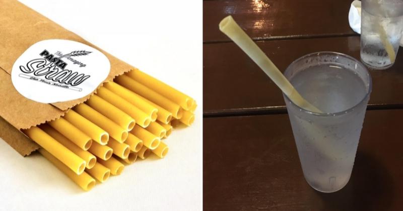 Des pailles confectionnées à partir de... pâtes, une initiative qui va ravir tous les écolos