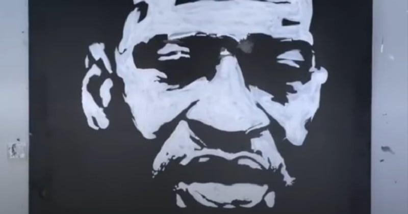 Cet artiste rend hommage à George Floyd en peignant son portrait