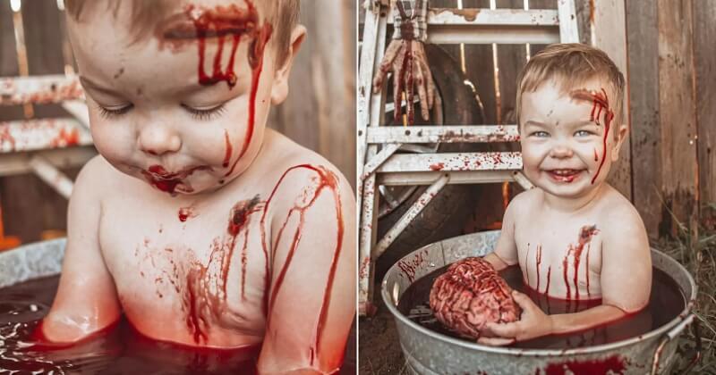 Pour Halloween, elle réalise avec son fils un shooting photo extrêmement réaliste et très effrayant