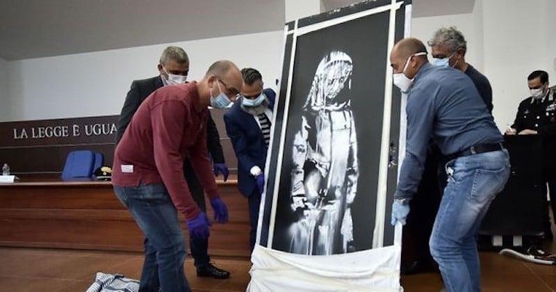 L'Italie restitue officiellement à la France l'œuvre-hommage de Banksy, volée au Bataclan