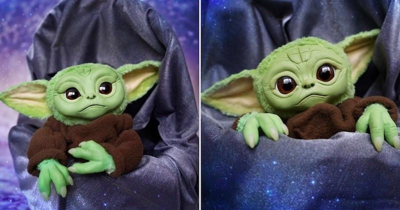 Cette peluche bébé Yoda va vous faire craquer
