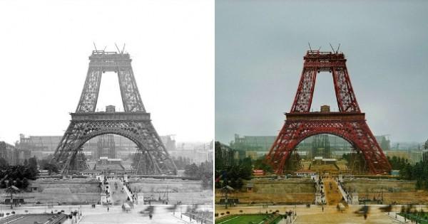 Remontez le temps avec ces 10 photos de célèbres monuments prises pendant leurs constructions, entièrement colorisées