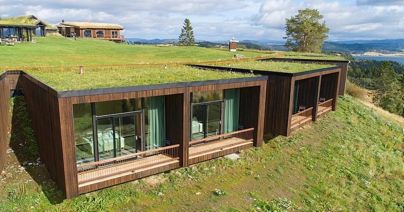 En Norvège, cet hôtel semi-enterré est l'endroit idéal pour une immersion totale en pleine nature