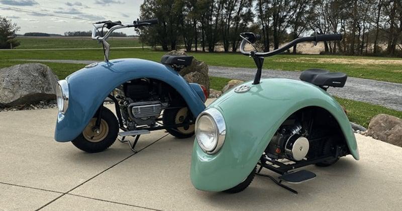 Des scooters vintage créés grâce à des pièces d'origine de la mythique coccinelle