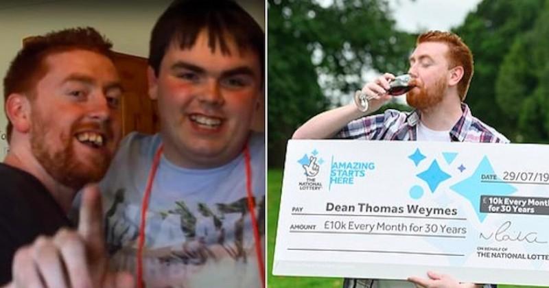 Il gagne 10 000 £ par mois pendant 30 ans et annonce qu'il se servira de l'argent pour s'occuper de son frère autiste