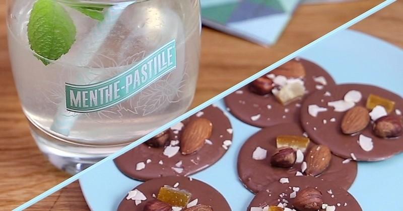 Pour les fêtes, faites-vous plaisir et réalisez le cocktail Émile Fizz accompagné de délicieux mendiants au chocolat!