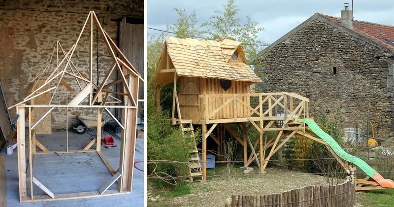 Cet adorable tonton a construit pour sa ni ce de 5 ans un super ch teau de princesse avec des - Ma cabane au fond du jardin francis cabrel ...