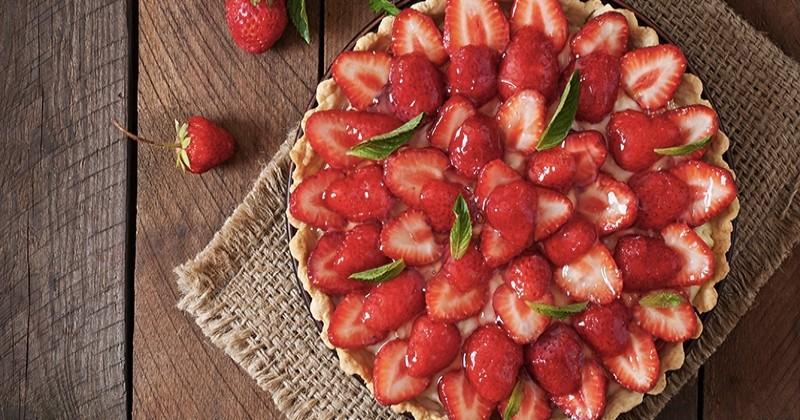 tarte aux fraises simple