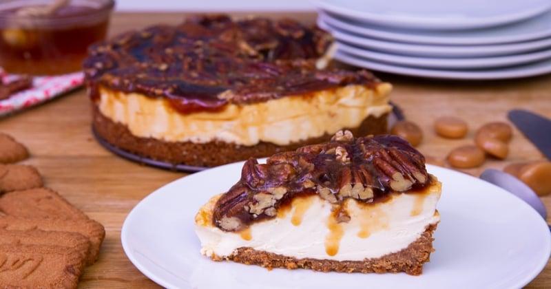 cheesecake caramel et noix de pécan