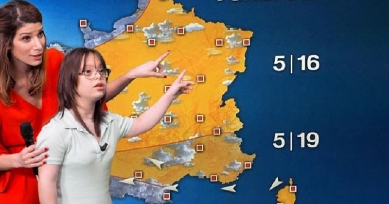 Atteinte de trisomie 21, la jeune Mélanie réalise son rêve et devient présentatrice météo sur France 2 le temps d'une journée... Ne la ratez pas à 20h35 !
