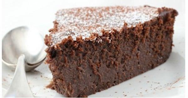 le gâteau au chocolat sans beurre et sans sucre