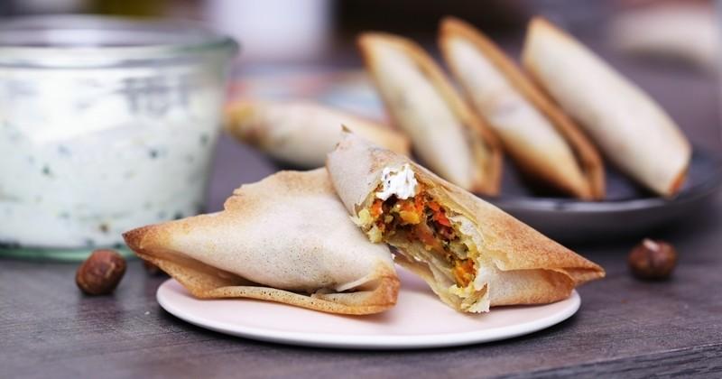 Revisitez vos Samoussas avec une farce gourmande à base de Galettes Potiron & Crème de Muscade Bonduelle