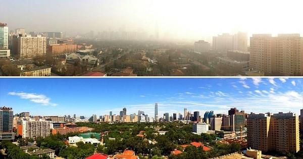 Incroyable: pour la première fois depuis des années… les habitants de Pékin voient le ciel bleu!
