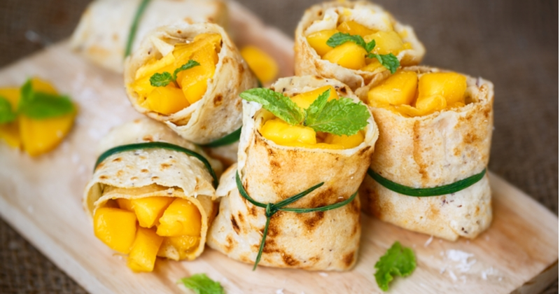 Succombez à nos rouleaux au fruit de la passion et à la mangue caramélisée