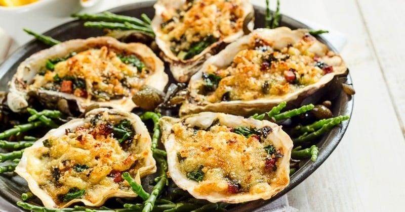 Avis aux fans d'huîtres : essayez les huîtres gratinées au parmesan !