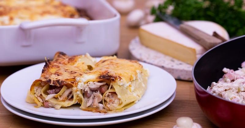 Des roulés de lasagnes au reblochon