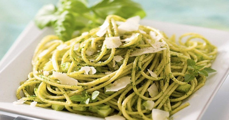 Les spaghettis au pesto maison, un repas gourmand et rapide à faire