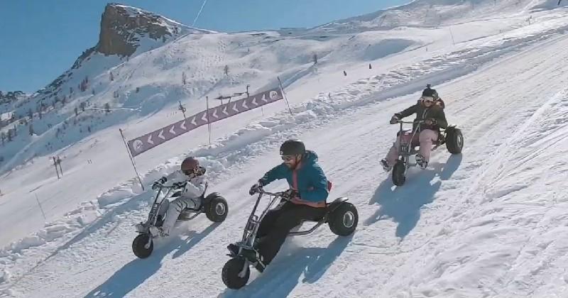 Découvrez le kart sur glace, une discipline amusante qui fait penser à Mario Kart !