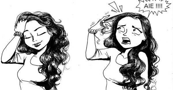 18 illustrations qui r sument la perfection le quotidien des femmes qui ont les cheveux longs. Black Bedroom Furniture Sets. Home Design Ideas