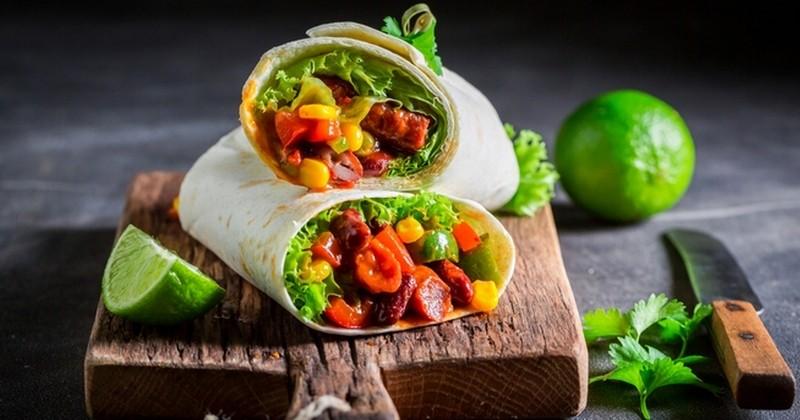 Burrito à la viande hachée