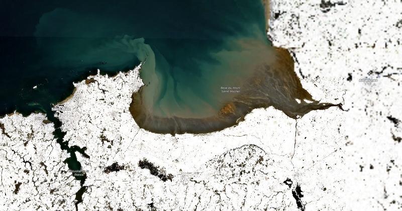 La Bretagne sous la neige vue de l'espace, des images à couper le souffle