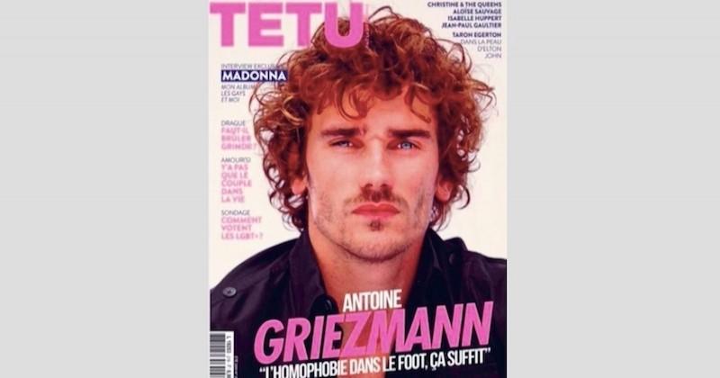 La star de l'équipe de France de football, Antoine Griezmann, s'affiche en Une du magazine «Têtu», contre l'homophobie