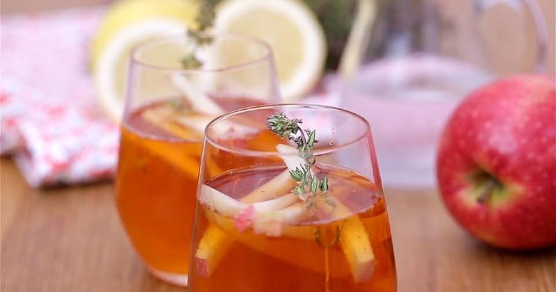 Testez le nouveau cocktail du moment, le spritz revisité avec du cidre