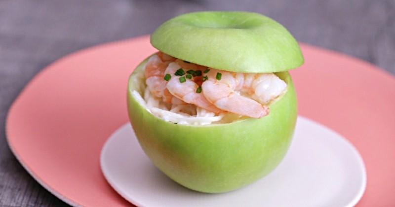 Pour les fans de sucré salé, découvrez la succulente pomme farcie au céleri rémoulade au fromage blanc Bonduelle!
