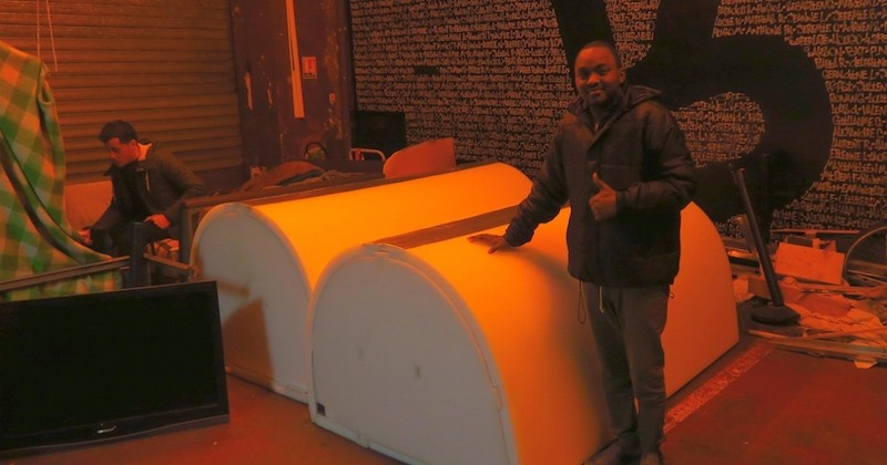 Un Bordelais invente « Iglou », un abri d'urgence pour aider les sans-abri à survivre en période de grand froid