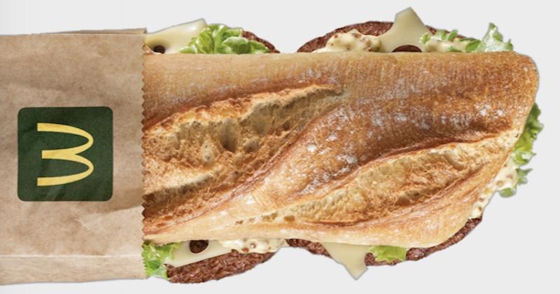 McDonald's lance un nouveau burger avec... une baguette !
