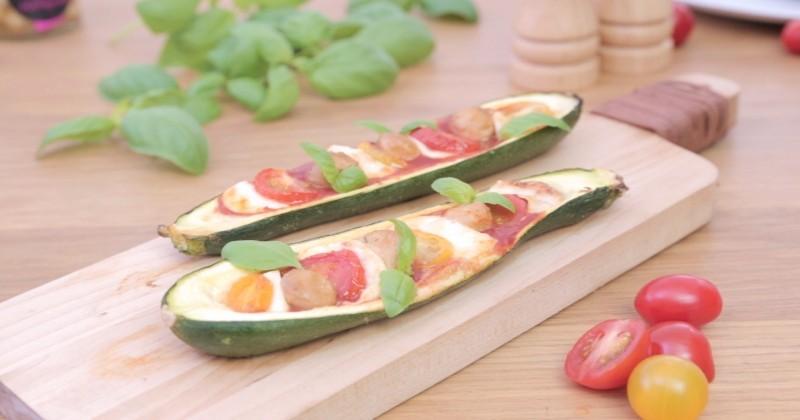 Pensez à la pizza courgette, sympa et plus digeste !
