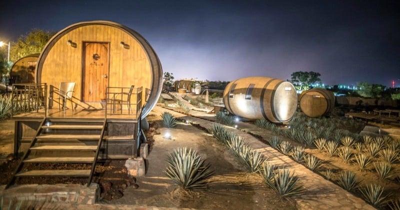 Au Mexique, un hôtel-distillerie vous propose de dormir dans d'anciens barils de tequila