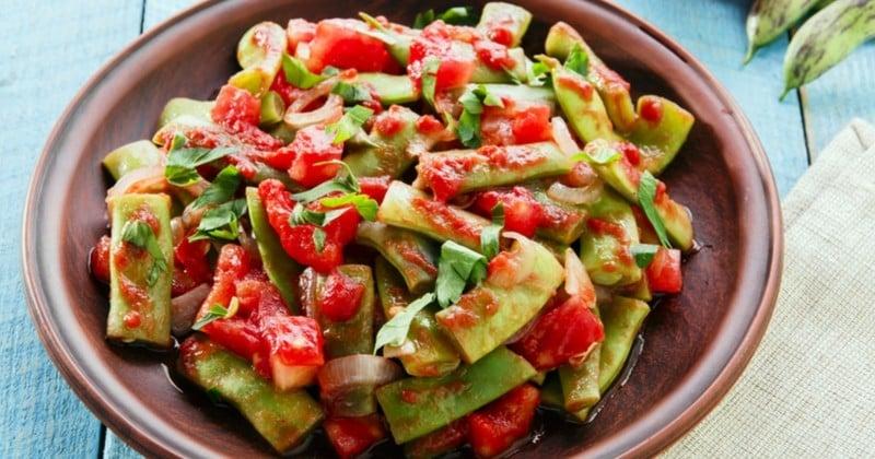 Des haricots plats à la tomate et à l'oignon venus tout droit du Liban!