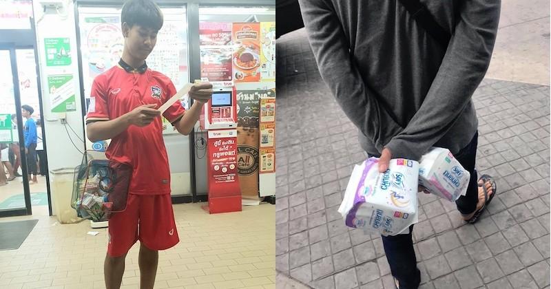 Les Thaïlandais font preuve de créativité énorme pour palier l'interdiction de sacs plastique dans les magasins