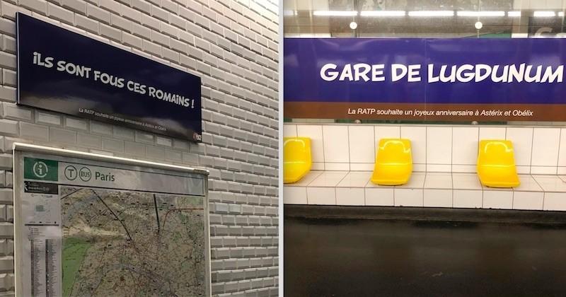 À l'occasion des 60 ans d'Astérix, la RATP a rebaptisé certaines stations de métro