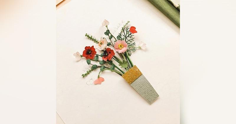Ces mini-bouquets de fleurs en papier sont bien trop mignons !