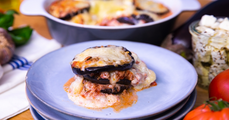 Lasagnes aubergine à la grecque