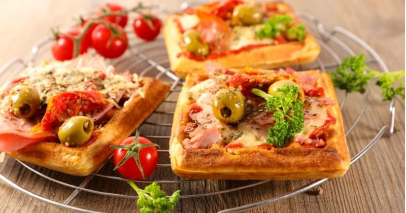 Gaufre pizza