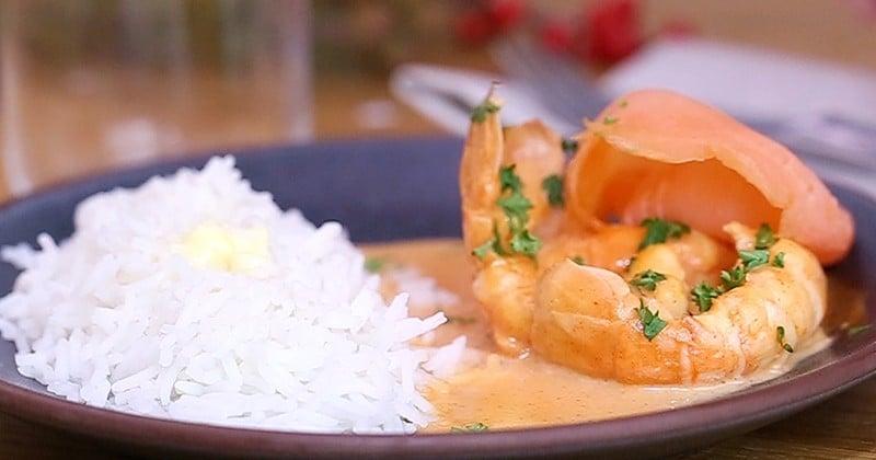 Voyagez avec les délicieuses langoustines au saumon fumé et à la crème relevées avec du piment de Cayenne